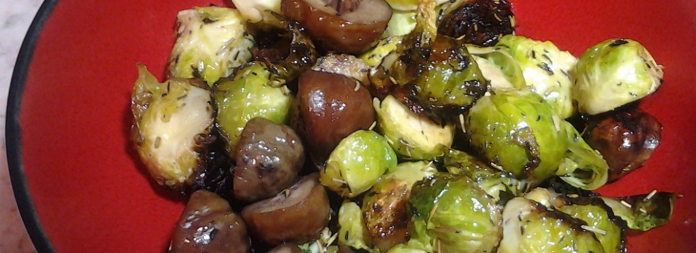 Brussel Sprouts and Mushrooms